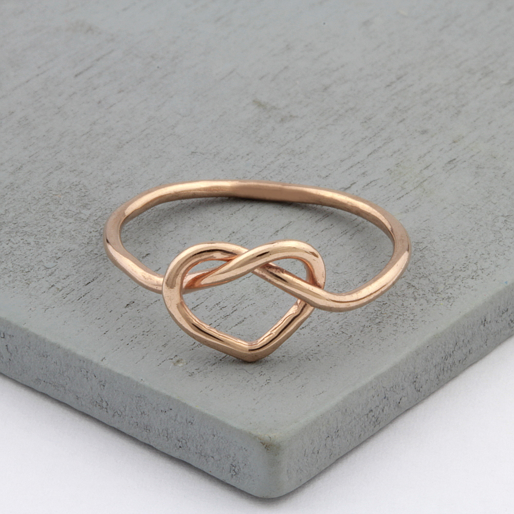 Herz Knoten Ring