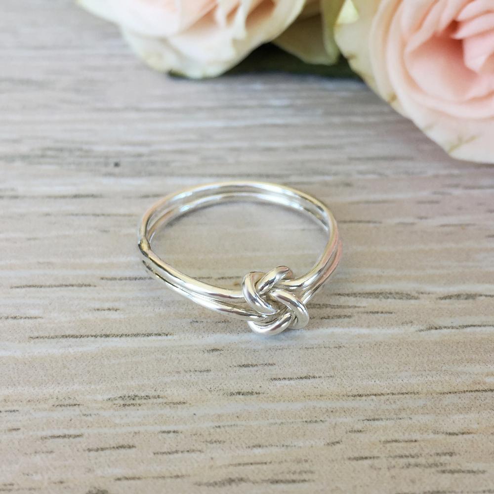 925 Sterlingsilber Freundschaft Knoten Ring