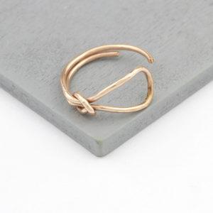 Rosegold Bogen Knoten Ring