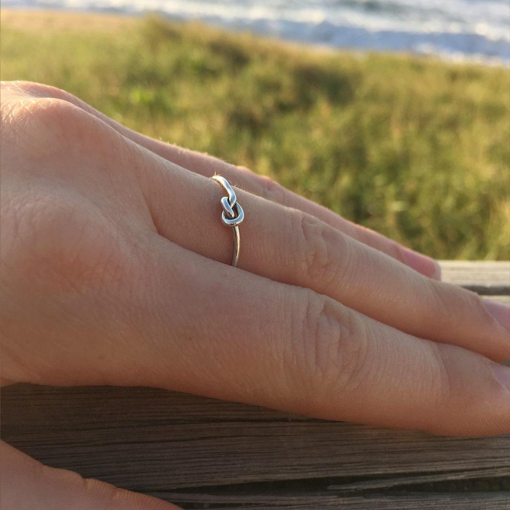 925er Sterlingsilber Knoten Ring