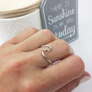 Silber Wellen Ring