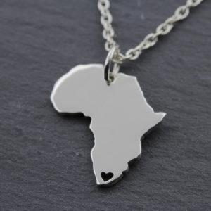 Afrika Kette mit Herz