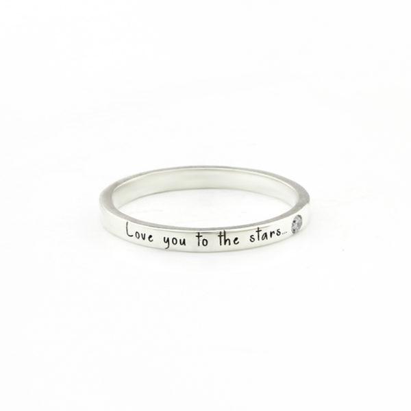 Diamant Ring mit Gravur