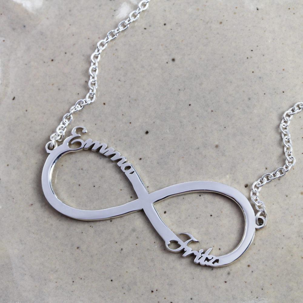 Infinity Namenskette Personalisierte Halskette Infinity Namenskette Deutschland Silvery Schmuck 1