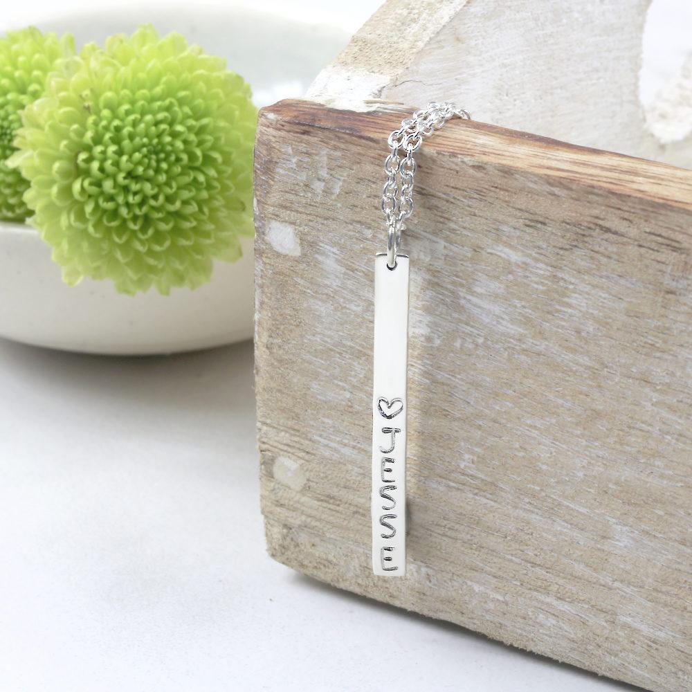 Personalisierte Halskette Stäbchen Kette Ella Silvery Schmuck Deutschland