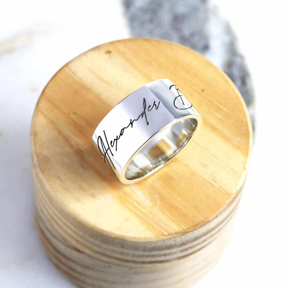 Personalisierte Ringe mit Gravur by Silvery Jewellery