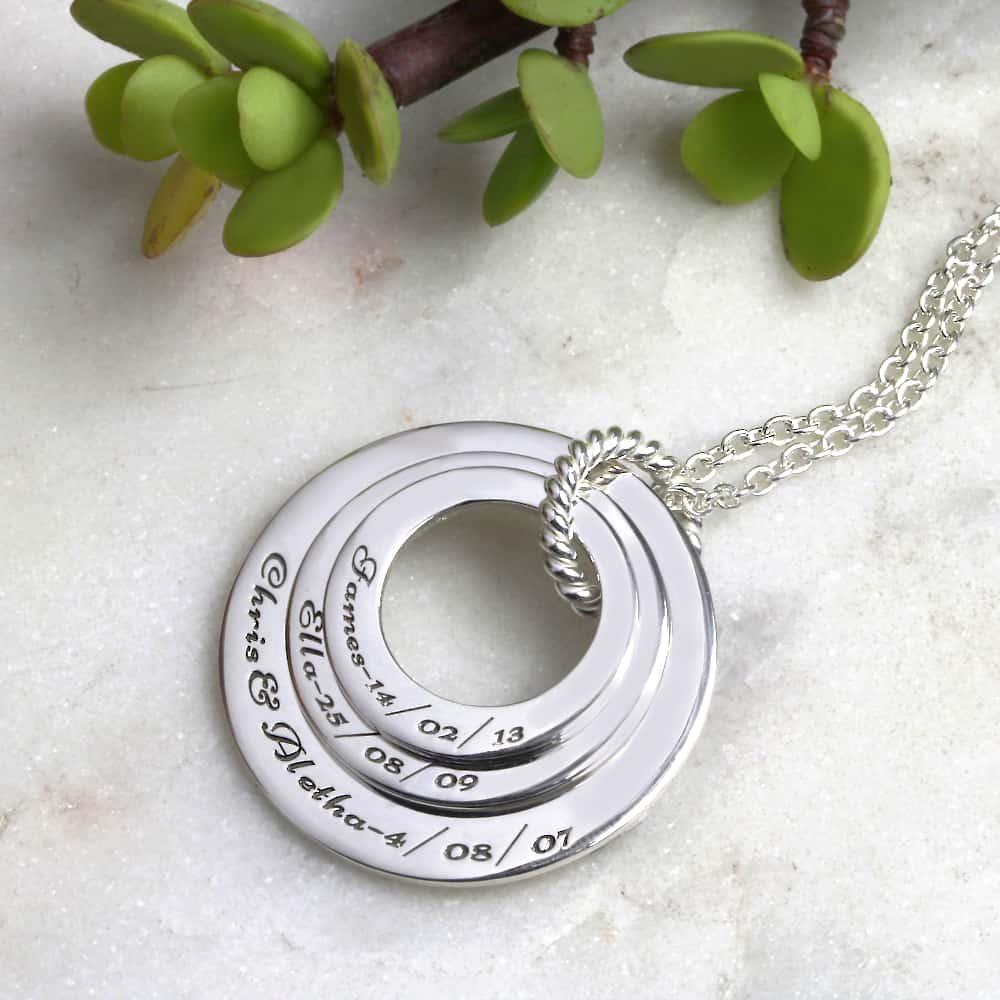 Familienkette Personalisierte Kamilienkette mit Gravur